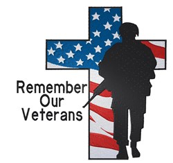 Remember Our Veterans embroidery design