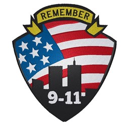 Remember 9-11 embroidery design