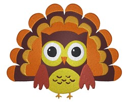 Owl Turkey embroidery design