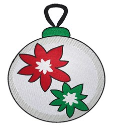 White Christmas ornament embroidery design