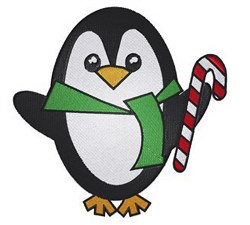 Christmas Penguin embroidery design