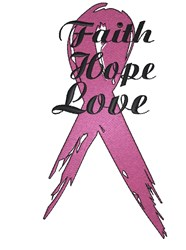 Breast Cancer Ribbon embroidery design