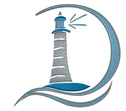 Modern Lighthouse embroidery design