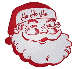 Santa Head embroidery design