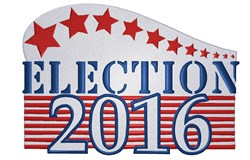 Election 2016 embroidery design
