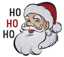 Santa Head HO HO HO embroidery design