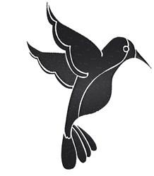 Bird Silhouette embroidery design