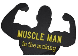 Muscle Man In Making embroidery design