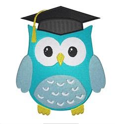 Graduating Owl embroidery design