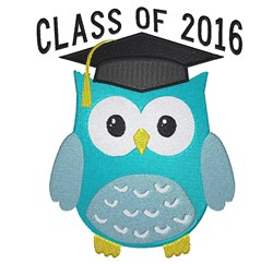 Graduating Owl Class Of 2016 embroidery design