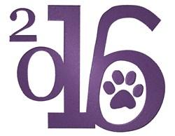 2016 Purple Paw Logo embroidery design