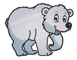 Cute Polar Bear embroidery design