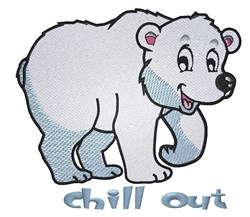 Cute Polar Bear embroidery design