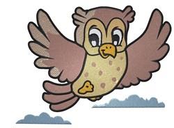 Cartoon Owl embroidery design