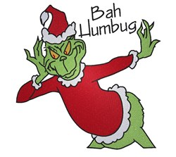 Bah Humbug embroidery design