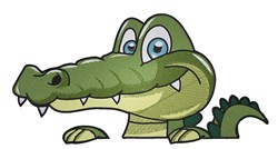 Cartoon Alligator Head embroidery design