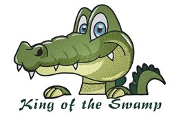 King Of Swamp embroidery design
