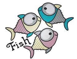 Funny Fish embroidery design