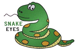 Snake Eyes embroidery design