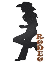 Cowgirl Rodeo embroidery design