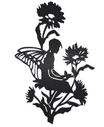 Fairy In Flowers embroidery design