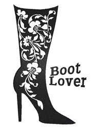 Fancy Boot Lover embroidery design