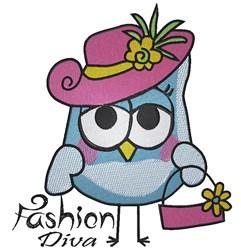 Fashion Owl Diva embroidery design