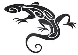Tribal Lizard embroidery design
