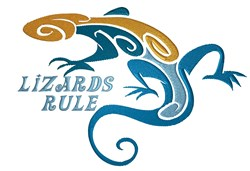 Lizards Rule embroidery design