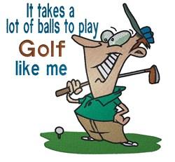 Golf Like Me embroidery design
