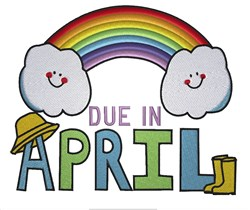 April Rainbow Due in April embroidery design