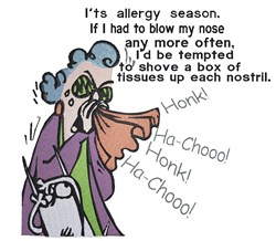 Maxine on Allergy embroidery design