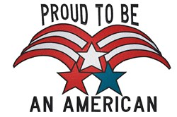 Patriotic Stars design Proud to be embroidery design