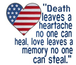 Patriotic Heart Death embroidery design