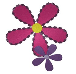 Two Flowers embroidery design
