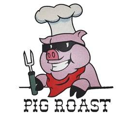 Pig Roast embroidery design