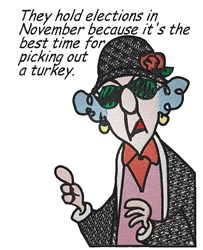 Maxine On Elections embroidery design