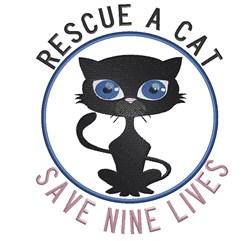 Rescue A Cat embroidery design