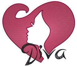 Diva embroidery design