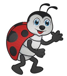 Cartoon Ladybug embroidery design