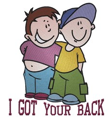 I Got Your Back embroidery design
