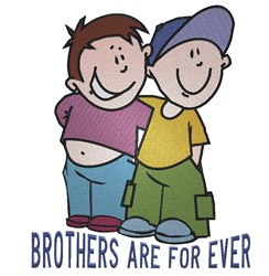 Brothers Are For Ever embroidery design