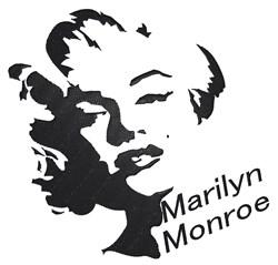 Marilyn Monroe embroidery design