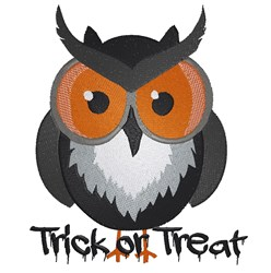 Trick Or Treat Owl embroidery design