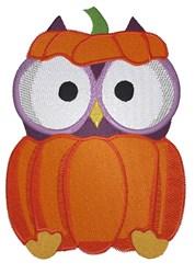 Halloween Pumpkin Owl embroidery design