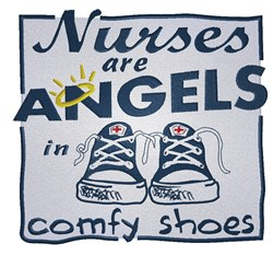 Nurses are Angels embroidery design
