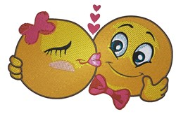 Smiley Kiss embroidery design