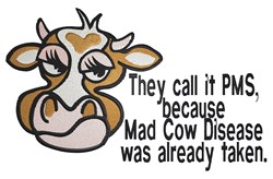 Mad Cow Disease embroidery design
