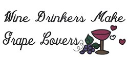 Wine Drinkers embroidery design
