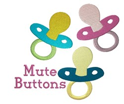 Mute Buttons embroidery design